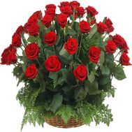 Flower basket of roses - flowers and bouquets on df.ua