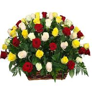 Flowers in a basket of roses - flowers and bouquets on df.ua