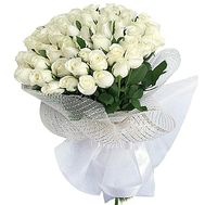 Dutch white roses - flowers and bouquets on df.ua