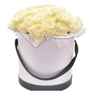 Composition of white roses in a box - flowers and bouquets on df.ua
