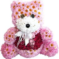Teddy bear composition of flowers - flowers and bouquets on df.ua