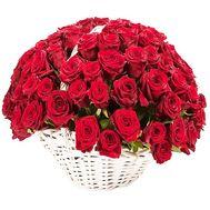Корзина 101 роза - цветы и букеты на df.ua