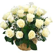 Cart 21 white rose - flowers and bouquets on df.ua
