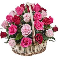 Basket of flowers for the anniversary of roses - flowers and bouquets on df.ua