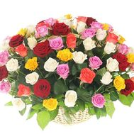 Basket of 251 multi-colored roses - flowers and bouquets on df.ua