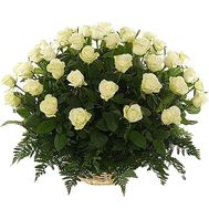 Basket of 51 roses - flowers and bouquets on df.ua