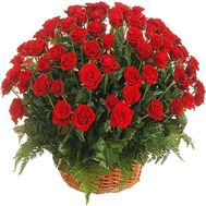Basket of red roses for your beloved wife - flowers and bouquets on df.ua