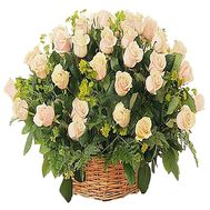 Basket of roses for an anniversary of 55 years - flowers and bouquets on df.ua