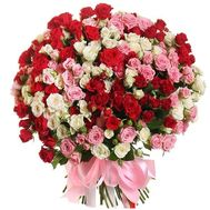 Beautiful bouquet of bush roses - flowers and bouquets on df.ua