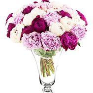 Красивый букет пионов - цветы и букеты на df.ua