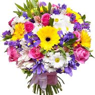 Beautiful bouquet with irises and other flowers - flowers and bouquets on df.ua