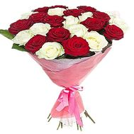 25 red and white roses - flowers and bouquets on df.ua