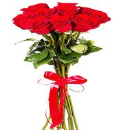 Red roses on a long leg - flowers and bouquets on df.ua