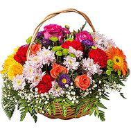 Летняя корзина цветов - цветы и букеты на df.ua