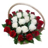 Unusual basket of imported roses - flowers and bouquets on df.ua