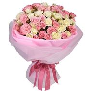 Delicate bouquet of 25 spray roses 40 cm - flowers and bouquets on df.ua