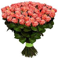101 peachy roses - flowers and bouquets on df.ua