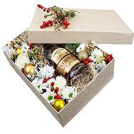 Новогодняя подарочная коробка с коньяком - цветы и букеты на df.ua