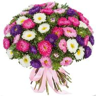 A huge bouquet of 101 asters - flowers and bouquets on df.ua