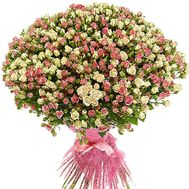 A huge bouquet of bush roses - flowers and bouquets on df.ua