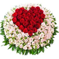 Original bouquet of large roses and bush roses - flowers and bouquets on df.ua