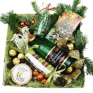 Gift box for the New Year - flowers and bouquets on df.ua