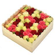 Подарочная коробка с цветами и сладостями - цветы и букеты на df.ua