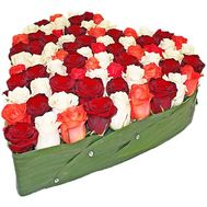 Multicolored roses in the shape of a heart - flowers and bouquets on df.ua