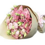 Pink eustoma in bouquet - flowers and bouquets on df.ua