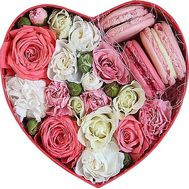 Roses and sweets in a box - flowers and bouquets on df.ua