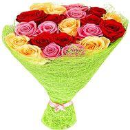 """""""21 разноцветная роза"""" в интернет-магазине цветов df.ua"""