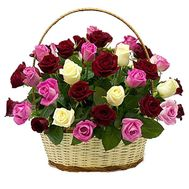 Roses in the basket for the anniversary - flowers and bouquets on df.ua