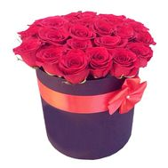 Roses in a hat box to buy - flowers and bouquets on df.ua