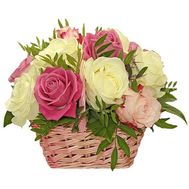 Happy birthday basket of roses - flowers and bouquets on df.ua