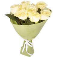 7 white roses - flowers and bouquets on df.ua