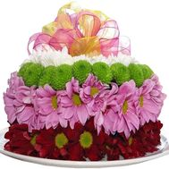 Cake of flowers - flowers and bouquets on df.ua