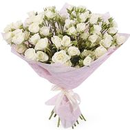 Snow white rose spray in bouquet - flowers and bouquets on df.ua