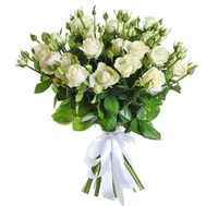 """Cute bouquet of white spray roses"" in the online flower shop df.ua"