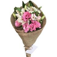 Small bouquet of eustoma and alstromeries - flowers and bouquets on df.ua