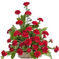"""35 carnations in the basket"" in the online flower shop df.ua"