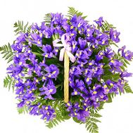 """51 iris in the basket"" in the online flower shop df.ua"