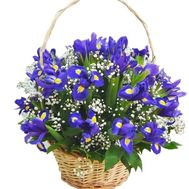 Bouquet of irises in a basket - flowers and bouquets on df.ua