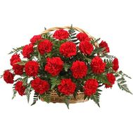 """Basket of 25 red carnations"" in the online flower shop df.ua"