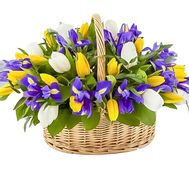 Basket of spring flowers - flowers and bouquets on df.ua