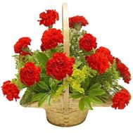 Small basket of carnations - flowers and bouquets on df.ua