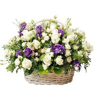"""Excellent basket of roses and eustoma"" in the online flower shop df.ua"