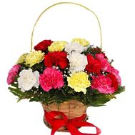 """Multicolored carnations in a basket"" in the online flower shop df.ua"