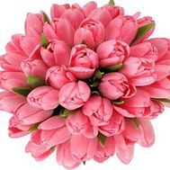 """41 pink tulips in a bouquet"" in the online flower shop df.ua"