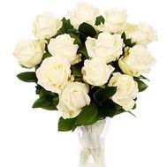 11 білих троянд - цветы и букеты на df.ua
