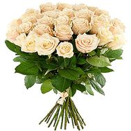 """25 cream-colored roses"" in the online flower shop df.ua"